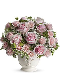 Teleflora's Parisian Pinks with Roses Flower Arrangement - Teleflora