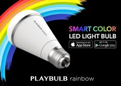 Playbulb Rainbow Smart Colour LED Light Bulb Supports Both iOS And Android