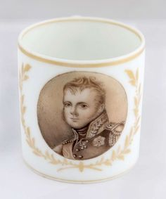 A RUSSIAN PORCELAIN CUP WITH THE PORTRAIT OF EMPEROR ALEXANDER I, GARDNER PORCELAIN FACTORY, VERBILK
