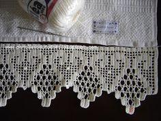 * Pérolas do Crochet: Barrado de croche (Croché - Dantel - 鉤針 - Крючком - Вязание - かぎ針編み)