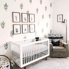 We're just going to leave this right here for a little Saturday night nursery inspo. 🤗 Decals are a quick and easy way to make a not so permanent statement and we're totally on board. LINK in bio to shop all wall decals! Childrens Room Decor, Baby Nursery Decor, Nursery Themes, Baby Decor, Nursery Room, Accent Wall Nursery, Project Nursery, Nature Themed Nursery, Wall Decals For Nursery