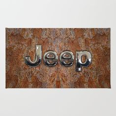 Rustic Jeep RUG #rug #rustic #jeep #steampunk #logo #typograph #wrangler #landrover #car #abstract #volkswagen #vehicle #autocar #suv #offroad #rangerover #4x4