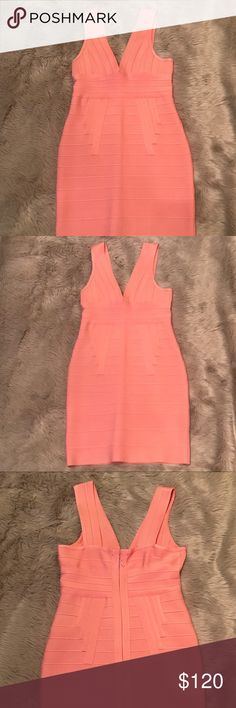 Hot Miami Styles Bandage Dress 🌷 Worn once and almost new condition. It's a size L with some stretch. It's absolutely gorgeous for a night out with the girls, date night, or even Valentine's Day 💝 It is high quality bandage material, heavy and comfortable to wear. Hot Miami Styles Dresses