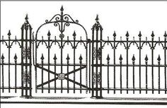 Victorian Iron Fence - modern - fencing - other metro - by Walpole Outdoors
