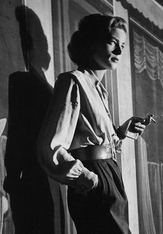 theantidote: Lauren Bacall on the set of Young Man with a Horn...