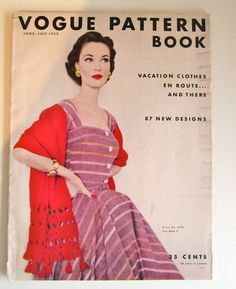 Vintage Sewing Magazine Vogue Pattern Book June July by Mrsdepew