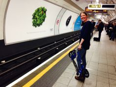 Alison, the tube, an adult Micro scooter. Ready to rock and scoot