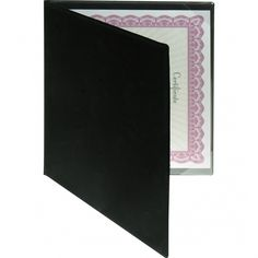 certificate holder a4 velvet frame black