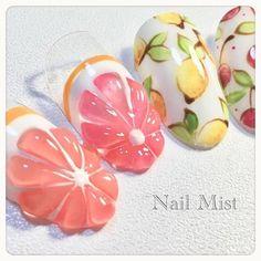 #フルーツネイル #果肉ネイル#レモンネイル#柑橘ネイル#さくらんぼネイル#チェリーネイル#果肉 . . . +++++++++++++++++++++++++ ★ネイルスクール&サロン...|ネイルデザインを探すならネイル数No.1のネイルブック Fruit Nail Designs, Nail Art Designs, Soft Nails, Simple Nails, 3d Nails, Cute Nails, Tulip Nails, Kawaii Nail Art, Fruit Nail Art