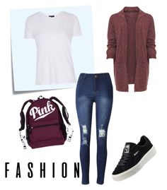 """""""Untitled #561"""" by mina-polyvore ❤ liked on Polyvore featuring WearAll, Post-It, Topshop and Puma"""