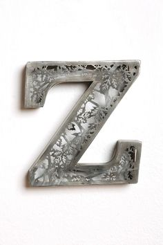 acid etched letter z