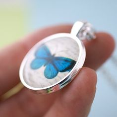 Handmade Gifts | Independent Design | Vintage Goods Lovely Butterfly Necklace