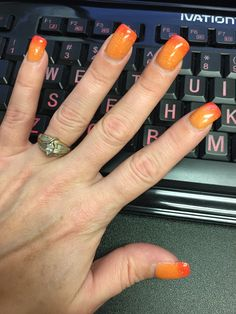Perfect color for Fall season!  Hot & Spicy WAVE Gel Mood polish - I get complements all the time! It's like wearing 2 colors