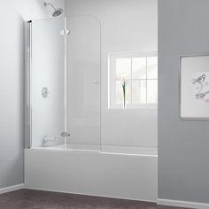 Bathtub Shower Combo, Bathroom Tub Shower, Glass Shower Doors, Bathtub With Glass Door, Bathroom Ideas, Loft Bathroom, Hall Bathroom, Bath Ideas, Bathtub Tile Surround