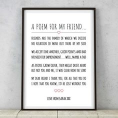 This heartfelt print. | 26 Sappy Valentine's Day Gifts For Your BFF