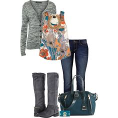 """""""Turquoise & Gray!"""" by jjanstover on Polyvore"""