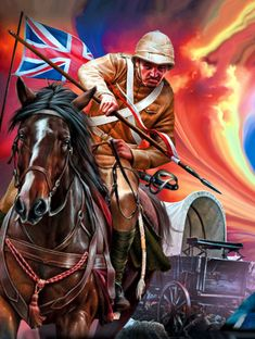 Charge of the British lancer during the Second Boer War