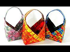 #DIY: Cestas de papel Gustamontón. How to make paper baskets. - YouTube