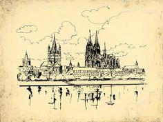 'Panorama der Stadt Köln' von Dirk h. Wendt bei artflakes.com als Poster oder Kunstdruck $19.41