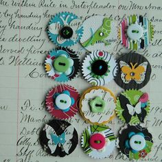 Love these embellishments and the way they are grouped