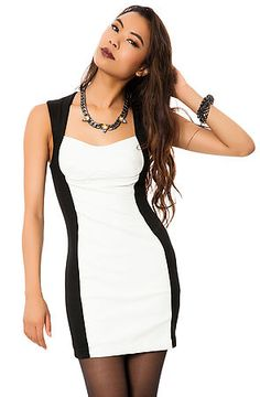 The Mysterious Dress in White and Black by *MKL Collective Use Code: ANG23 for 20% off on your first order!
