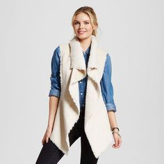 Women's Lengthened Sherpa Vest Beige Xxl - Knox Rose