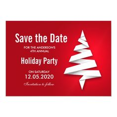 Holiday Party Save The Date With Christmas Tree Magnetic Invitation #christmas #party #save #the #date #MagneticInvitation Christmas Party Invitation Template, Christmas Party Invitations, Wedding Invitations, Christmas Save The Date, Christmas Holidays, Office Holiday Party, Holiday Parties, Save The Date Postcards, Save The Date Cards