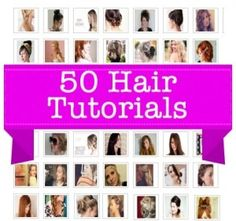 50 Hairstyles and Tutorials #hair #diy #tutorials hair-styles-accessories