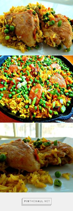 Poor Man's Paella - Stunning Paella made with chicken! In the oven, under 40 minutes.