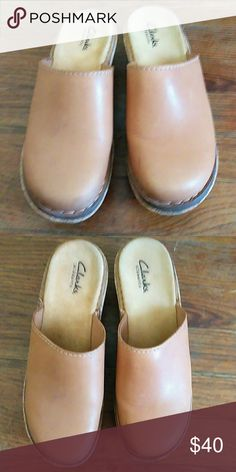 Clarks Elements Leather upper / balance man made Clarks Shoes Mules & Clogs