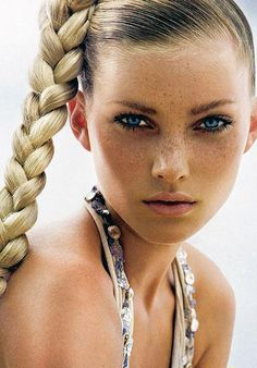 I want the freckles and the makeup and the tan.