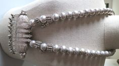 HUGE vintage silver ball beads and silver Hirz pendant Bedouin necklace from YEMEN 390 grams! door tribalgallery op Etsy