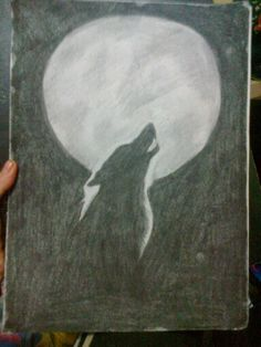 Werewolf done out of charcoal