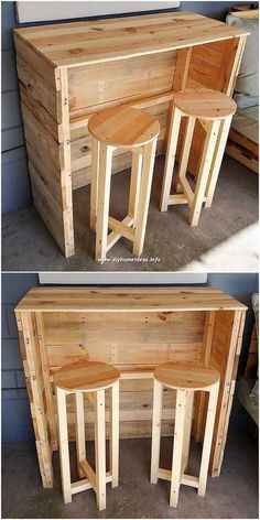 Splendid Creations Made with Old Pallets is part of Antique furniture Chest Vintage Trunks - As you would be making the search around, you will be probably finding so many fresh ideas of the wood pallet repurposing that are a must Diy Pallet Sofa, Wood Pallet Furniture, Rustic Furniture, Outdoor Furniture, Wooden Projects, Diy Pallet Projects, Pallet Ideas, House Projects, Diy Outdoor Table