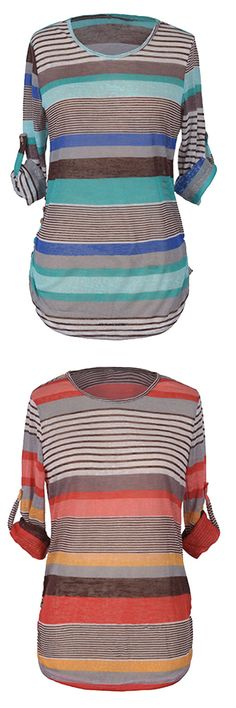 Only $17.99 with Free Shipping. Easy Returns+Easy Refund! New fall look, Check this cute stripe knitting top! It is  great for cold casual days.These stripes are good at what they do. Opt for this style at Cupshe.com!