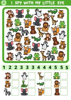 Super Hero Activities, Toddler Learning Activities, Preschool Activities, Kids Learning, Color Worksheets For Preschool, Animal Worksheets, Zoo Book, I Spy Games, Picture Composition