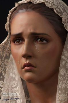 Virgen del Carmen de Dos Hermanas. This just might be the most realistic and believable depiction of the Virgin Mary I have ever seen. Very moving!