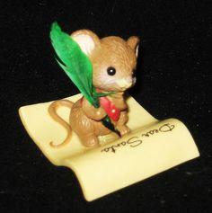 Vtg 1982 Dear Santa Mouse Hallmark Xmas Merry Miniature Figurine vvx