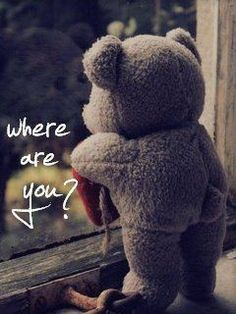 Trains, Teddy Bears and abandoned places Teddy Bear Quotes, Teddy Bear Images, Teddy Bear Pictures, Calin Gif, I Miss You Cute, Miss You Friend, Miss You Images, Hug Quotes, Bear Wallpaper