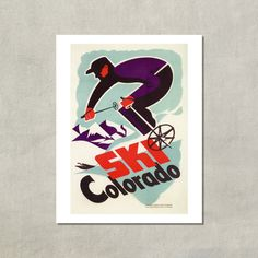 Hey, I found this really awesome Etsy listing at https://www.etsy.com/listing/184726167/ski-colorado-85-x-11-ski-print-colorado