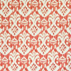 Excited to share this item from my #etsy shop: Mill Creek VOISEY Ikat LIPSTICK Orange Red Drapery Curtain Upholstery Sewing Fabric - Sold By the Yard Sage Color Palette, Classy Living Room, Pillow Slip Covers, Greenhouse Fabrics, Toile Wallpaper, Mill Creek, Ikat Pattern, Passementerie, Furniture Upholstery