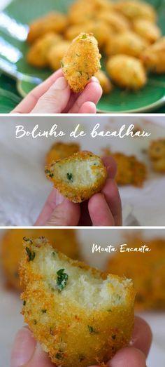 Autentico Bolinho de Bacalhau com Batatas, receita portuguesa  gostosa com certeza!