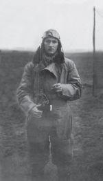 John Crossman in flying kit, from 'Australian Eagles: Australians in the Battle of Britain' by Kristen Alexander.
