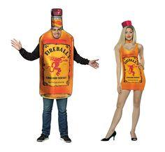 fc1c330a92ad1 Fireball cinnamon whiskey couples Halloween costume. Fireball Bottle,  Fireball Whiskey, Cool Couple Halloween