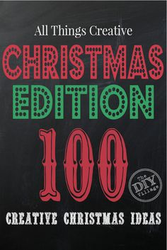 Over 100 Creative ideas for Christmas from All Things Creative