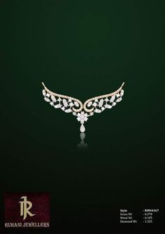 Jewerly Desing Ideas Diamond Band Ideas For 2019 Diamond Mangalsutra, Gold Mangalsutra Designs, Diamond Jewellery, Gold Pendent, Diamond Pendant, Green Diamond, India Jewelry, Diamond Bands, Jewelry Design