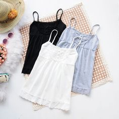 Vest Tops – Women cotton camisole – a unique product by DIYtime via en.DaWanda.com