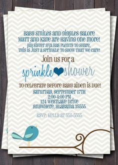 Baby Sprinkle Baby Shower or Sip n See by sullivandigidesigns, $12.00