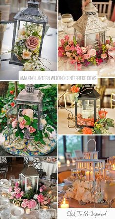 51 Amazing Lantern Wedding Centerpiece Ideas Thinking how to decorate your centerpiece? We propose to consider lantern wedding centerpiece ideas. Lanterns will add cosiness to [. Romantic Wedding Centerpieces, Lantern Centerpiece Wedding, Wedding Lanterns, Lanterns Decor, Wedding Flower Arrangements, Floral Centerpieces, Ideas Lanterns, Centerpiece Ideas, Decorating With Lanterns