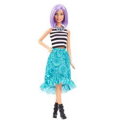 Кукла Barbie ( Кукла Барби ) Мода Игра с модой фиолетовые волосы салатовая юбка | Barbie.Ru | Барби в России
